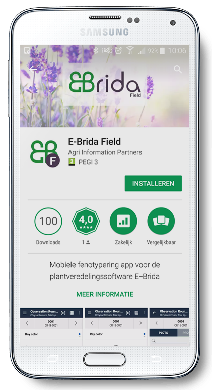 Download data registratie app Android veredeling