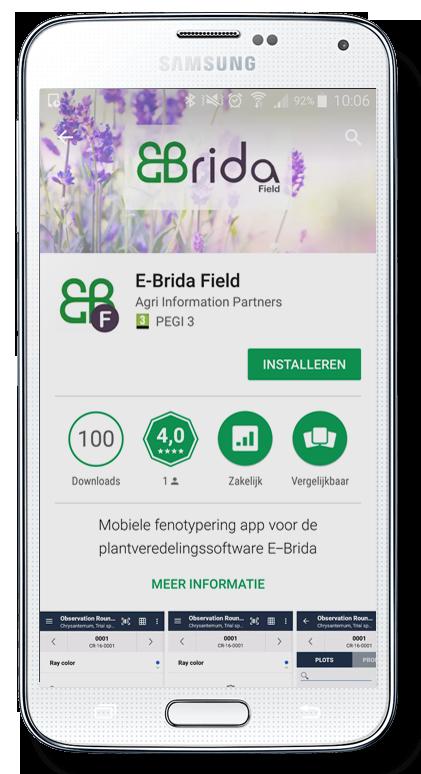 Download data registratie app Android veredeling