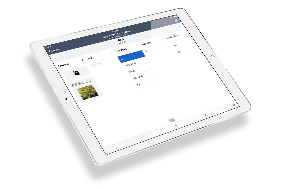 Tablet registratie in het veld offline app
